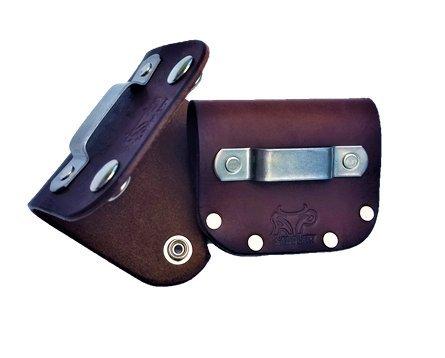 Leather Tape Measure Holder (Dark Brown w/Snaps)