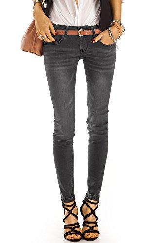 bestyledberlin Damen Röhrenjeans, Skinny Jeans, Stretch Jeanshosen eng, Slim Fit Hosen j40f M