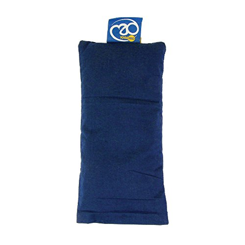 Silk Yoga Eye Pillow Stress Tired Eye Relief Lavender Cassia Seed Blue