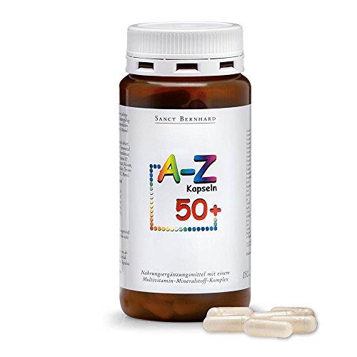 Sanct Bernhard A-Z-Kapseln 50plus - 24 Vitalstoffe für das reife Lebensalter 150 Kapseln