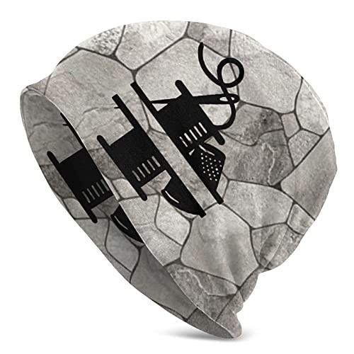 975 Gorro De Punto Aguja De Hilo Beanie Sombrero Diseño De Dos Niveles Skullcap Moderno Gorro Beanie para Ciclismo Mujer Regalos De San Valentín