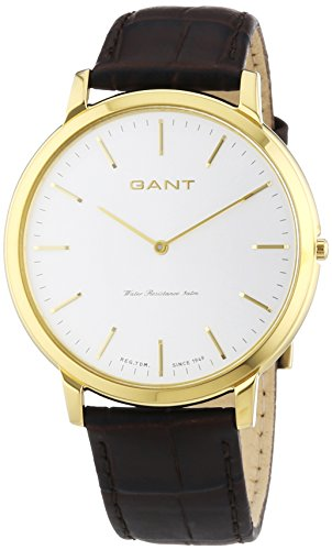 GANT Herren-Armbanduhr XL Harrison Analog Quarz Leder W70604