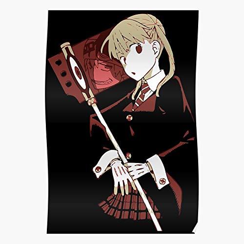 SARAHSILVA Anime Scythe Soul Meister Eater Albarn Maka Evans I S Poster for Home Decor Wall Art Print Poster