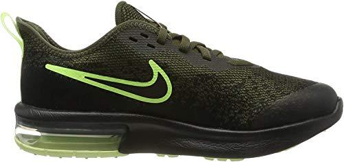 Nike Jungen Air Max Sequent 4 Sneaker, Grün (Cargo Khaki/Black-Barely Volt 300), 39 EU