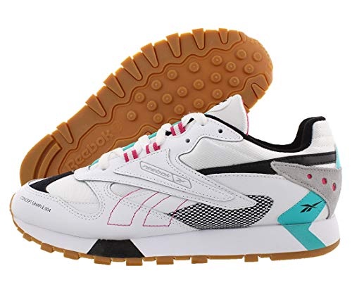 Reebok Classic Leather ATI 90s (White/Teal/Black/Grey/Pink) Men's Shoes DV5373