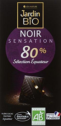 Jardin Bio Chocolat Noir Sensation 80% Sélection Equateur 100 g