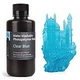 ELEGOO 光造形3Dプリンター用 UVレジン 405nm 水洗い樹脂 500g 光硬化可能樹脂 LCD 3Dプリンター向け(明るいブルー)
