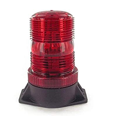 Strobe Light, Led Bulb, ABS Base, 12-80V, Red Lens