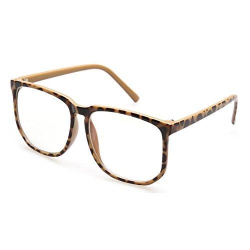 Huicai Huicai Runde Unisex Brille Übergroße Nerd Klare Linse Brille UV Schutz Anti Blaues Licht Platz