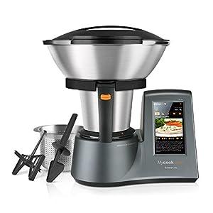 Taurus Mycook Touch Robot de Cocina, wifi, 1600 W, 2 L, hasta 140 grados, multifunción, más de 8000 recetas, Vaporera 2 niveles y cestillo de inox 29x36x26cm