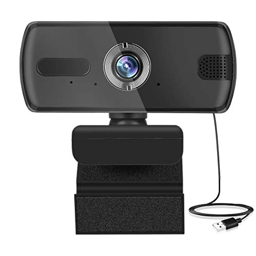 HD Webcam 1296P 3 MP con Microfono, USB Webcam Video Streaming PC Laptop Camera per Conferenze, Videochiamate, Streaming, Registrazione, Skype, Plug & Play, Clip Flessibile Regolabile