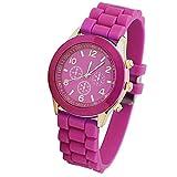 YIBOKANG 2 Unids Hombres Y Mujeres Pareja Moda Deportes Jalea Color Reloj Impermeable Estudiante Personalidad Casual Simple Banda De Goma Reloj De Cuarzo