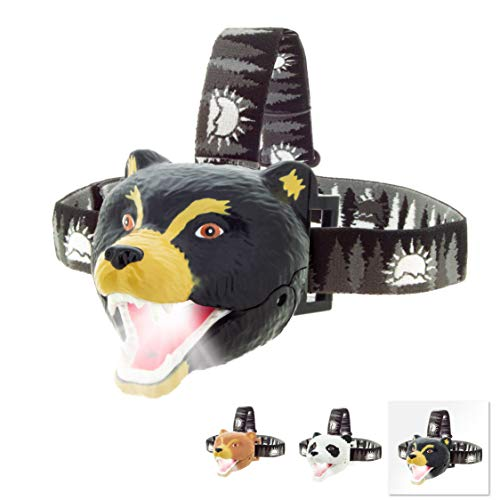 Sun Company Bear LED Headlamp - Bear Headlamps for Kids | Multiple Styles Available | Toy Head Lamp for Boys, Girls, or Adults | Perfect for Camping, Hiking, Reading, and Parties
