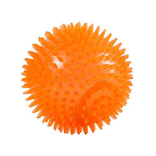 POPETPOP 6 cm Hund Ball Unzerstörbarer Ball Quietschball für Training und Zahnreinigung (Orange)