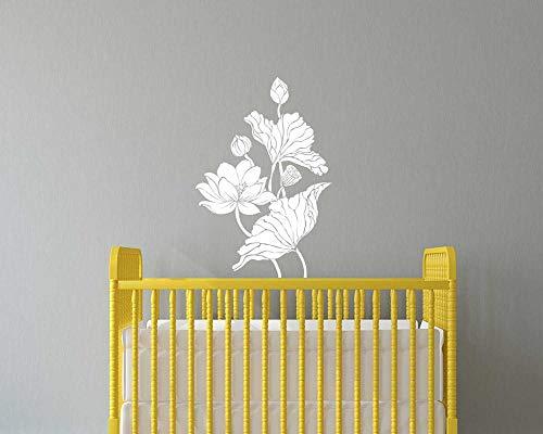 FXBSZ Anpassbare Blumenwandtattoos Gänseblümchenaufkleber Blumenwandtattoos Kinderblumen Babykindergartenblumenabziehbilder Mädchenabziehbilder Zitronengrün 82 cm x 120 cm