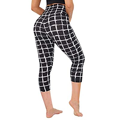 CAMPSNAIL High Waisted Leggings for Women - Butt Lift Soft Tummy Control Printed Pants Pattern Tights for Workout Cycling