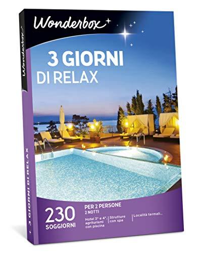 Wonderbox Cofanetto Regalo - 3 Giorni di Relax - Valido 3 Anni e 3 Mesi