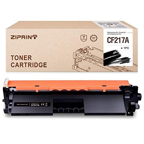 ZIPRINT Compatible HP 17A CF217A (con Chip) Cartucho De Tóner Negro para HP Laserjet Pro M102a M102w MFP M130a MFP M130fw MFP M130nw M130fn Impresora(1 Negro)