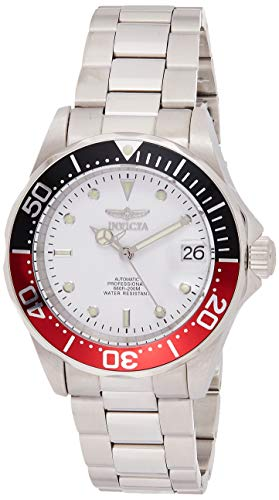 Invicta Men's Pro Diver 40mm Stainless Steel Automatic Watch, Silver/White (Model: 9404)