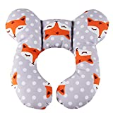 Baby Travel Pillow, Infant Head and Neck Support Pillow for Car Seat, Pushchair, for 0-1...