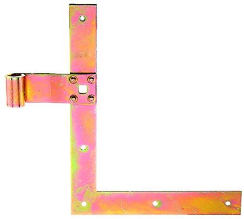 GAH-Alberts 313326 Fensterladen-Winkelband, gerade, Abschluss gerade, oben, galvanisch gelb verzinkt, 250 x 200 x 30 mm, Rolle: Ø13 mm