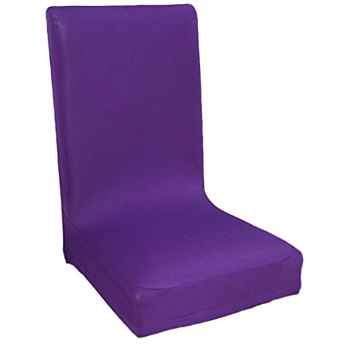 Kentop Funda elástica para silla, funda elástica para silla, funda bielástica, protección antimanchas, color lila
