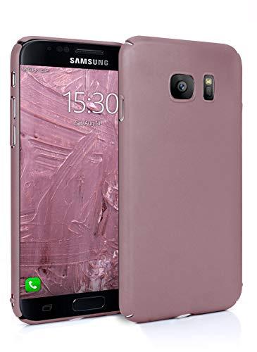 MyGadget Slim Fit Hardcase Hülle für Samsung Galaxy S7 - Schutzhülle federleicht & Ultra dünn - Plastik Case Hard Cover Schutz Kratzfest in Matt Rosa