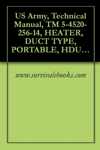 US Army, Technical Manual, TM 5-4520-256-14, HEATER, DUCT TYPE, PORTABLE, HDU-36/E, 120,000 BTU, MODEL H82, (NSN 4520-01-254-8548) AND H83, (4520-01-332-2394)