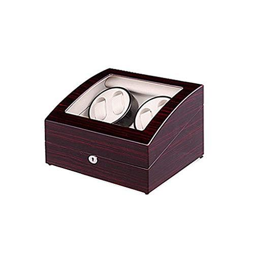 XLAHD Caja enrolladora de Reloj automática, Caja de presentación automática de Almacenamiento de Reloj Doble silencioso de Madera, Caja para 10 Relojes