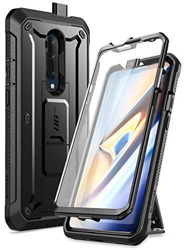 SupHülle OnePlus 7T Pro Hülle 360 Grad Handyhülle Bumper Hülle Robust Schutzhülle Cover [Unicorn Beetle Pro] mit Integriertem Bildschirmschutz, Ständer & Gürtelclip (Schwarz)