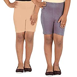 Lula Girls Spandex Shorts -Pack of 2