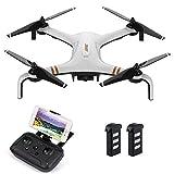 QYLT Drone GPS, 5G WiFi FPV RC, Caméra HD 1080P Quadcopter, Retour à La Maison, à Grand Angle Réglable Caméra, Maintien de l'altitude, Batterie Intelligente, Plage de Contrôle Longue