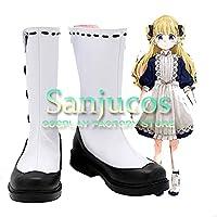 エミリコ シャドーハウス コスプレ 靴 ブーツ コスプレ靴 cosplay オーダーサイズ/スタイル 製作可能 【Sanjucos】(22.5cm)