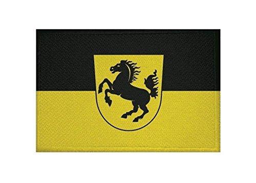 U24 Aufnäher Stuttgart Fahne Flagge Aufbügler Patch 9 x 6 cm