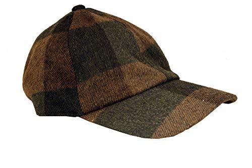 London Fog Brown Plaid Wool Baseball Cap
