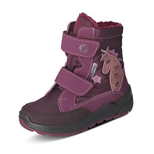 RICOSTA Mädchen Boots Annika, Weite: Mittel (WMS),Sympatex,Blinklicht,Winterboots,Outdoor-Kinderschuhe,Kids,Merlot (382),31 EU / 12 Child UK