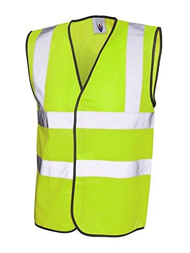 Gilet de sécurité haute visibilité-Gilet Veste de travail haute visibilité EN471 UC801 travail - Jaune - Large