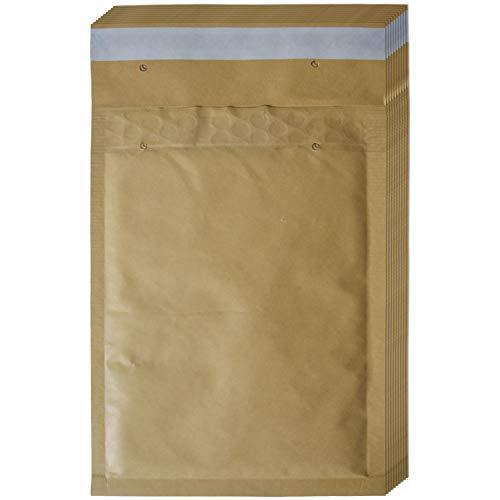 10 Stück Luftpolstertaschen, Luftpolsterumschläge - Größe: C/3, C3 - Farbe: Braun - Innenmaß 150 x 215 mm - Außenmaß 170 x 225 mm - haftklebend - Versandtaschen, Luftpolsterversandtaschen