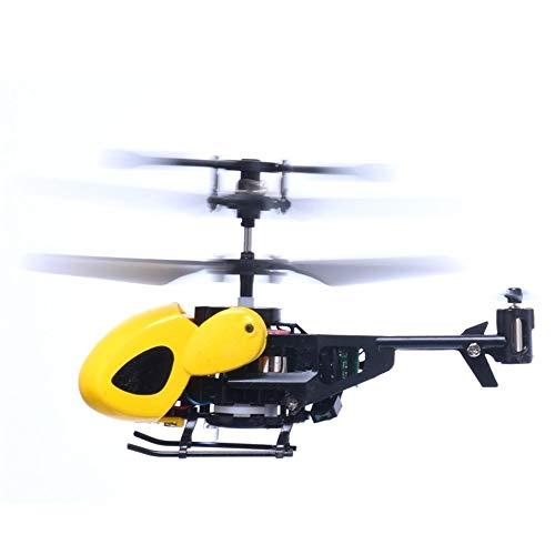 ELVVT Mini Rc Elicottero radiocomandato Aircraft Toy Regalo Micro 3,5 canali RC Drone Giocattolo Regali Originale Elettrico per Bambini Regali Adulti (Color : Yellow)