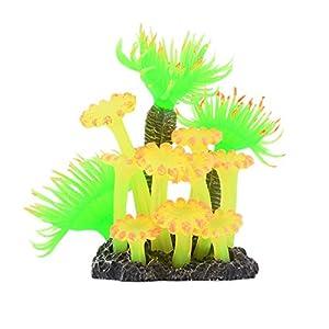 Wustrious Aquarium Simulation Silicone Coral Sea Plants Flower, Artificial Aquatic Plants Fish Tank Landscape Decoration, Plastic Soft Sea Anemone Landscape Decoration
