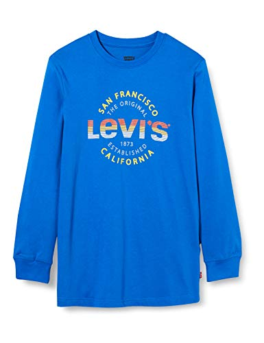 Levi's Kids Jungen T-Shirt Lvb Ls Graphic Tee Shirt Prince Blue 10 Jahre