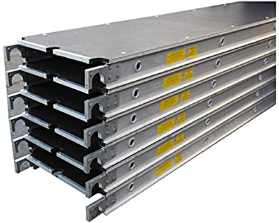 "CBM Scaffold 6 PC 7' x 19"" Aluminum Platform with Anti-Slip Plywood Decks (6)"