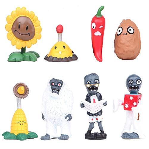 xinyawl Plüschtier 8 Stück / Los Cosplay Pflanzen Gegen Zombies Actionfigur Modell Puppe Spielzeug Für Kinder Geburtstagsgeschenke