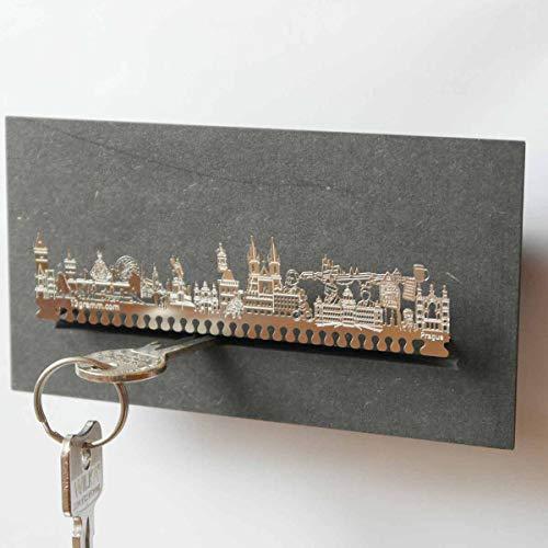 13gramm Prag-Skyline Schlüsselbrett Souvenir in der Geschenk-Box
