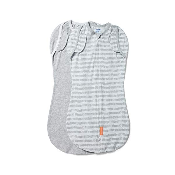 SwaddleMe Arms Free Convertible Pod – Size Large, 3-6 Months, 2-Pack (Marker Magic)