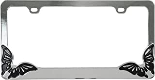 Custom Accessories 92707 Metal Butterfly Design License Plate Frame