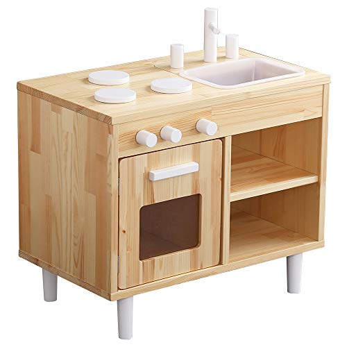 ままごとキッチン 知育玩具 天然木製 【Michelle-ミシェル】 MMP60-NA W66xD