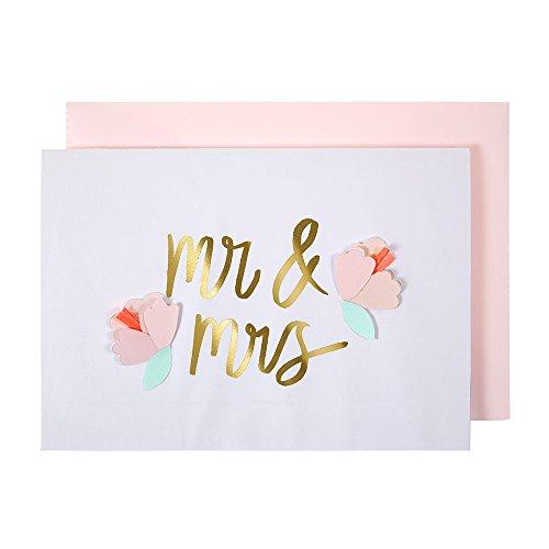 Carte M. et Mme avec fleurs - Meri Meri