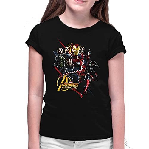 Camiseta de NIÑAS Avengers Thor Ironman Hulk America Widow 020 9-10 Años
