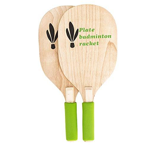 Beach Paddle Ball Spielset Badmintonspiel für Kinder Jugendliche Erwachsene Beach Paddle Badmintonschläger für drinnen und draußen